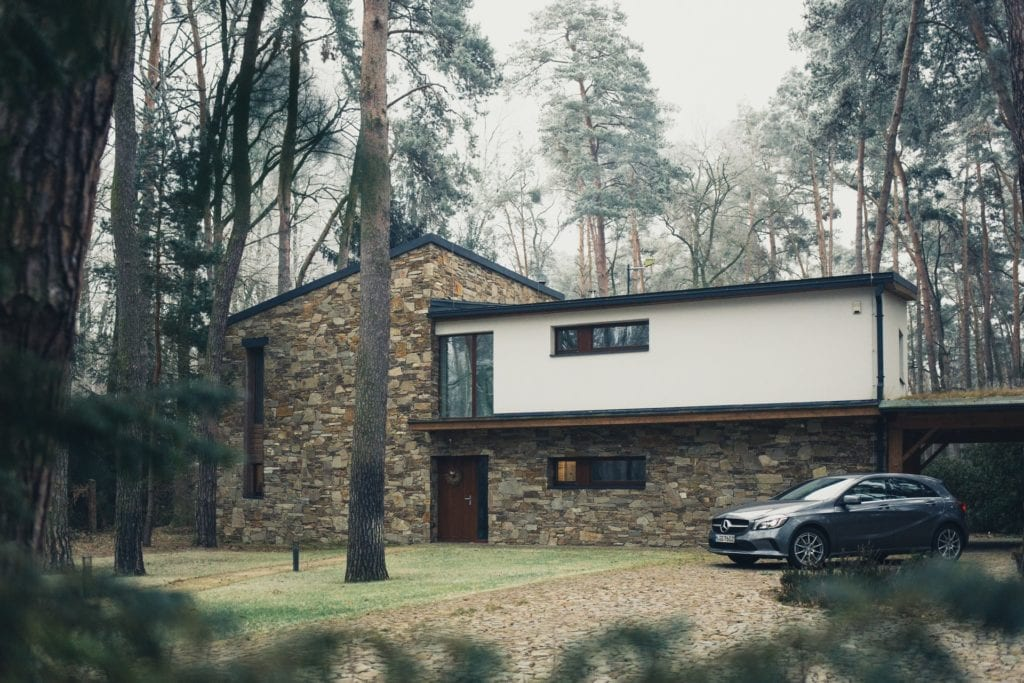 prarie style house with black suv for sale by owner property