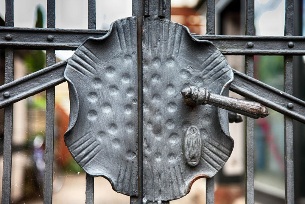 closed iron gate to show how foreclosure ends property possession